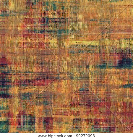 Old abstract grunge background, aged retro texture. With different color patterns: yellow (beige); brown; red (orange); green
