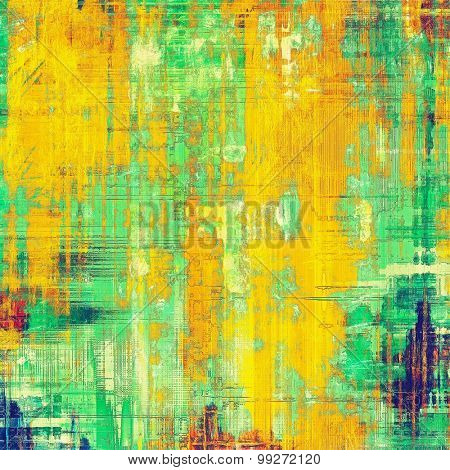 Abstract grunge background or old texture. With different color patterns: yellow (beige); green; blue; cyan