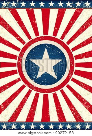 US sunbeams flag star. An american background with a big star and sunbeams for your publicity