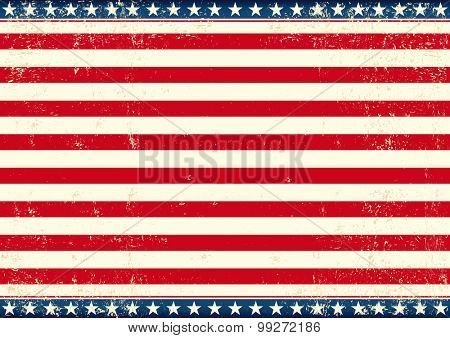 US flag horizontal. An american horizontal background for your publicity