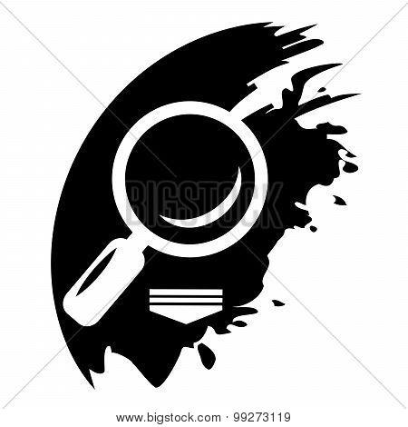 Vector Search Black Icon Web Design Element.
