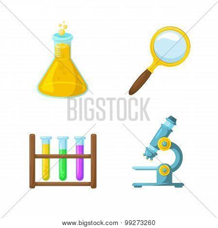 Science symbols.