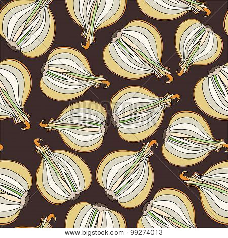 Seamless pattern with onion