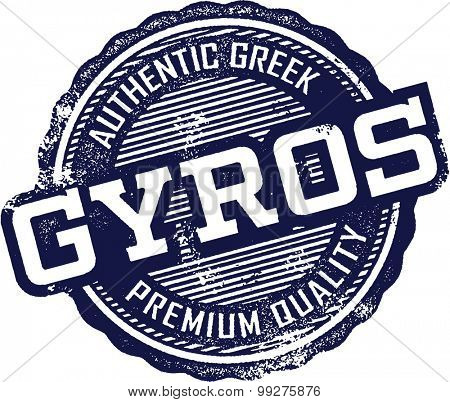 Greek Gyros Menu Stamp