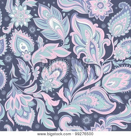 Beautiful floral leaf seamless pattern