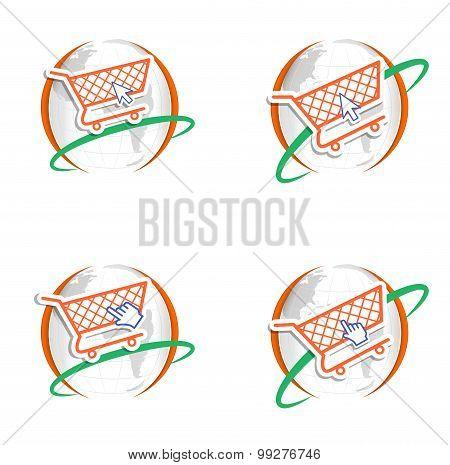 Shopping Cart Logo Cursor