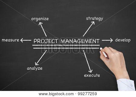 Project Management Diagram on Blackboard
