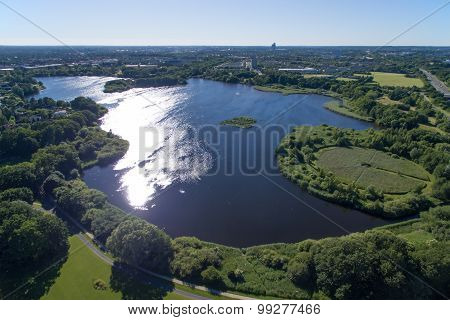 Aerial View Of Utterslev Mire Part 1, Denmark