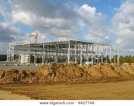 Construction of a factory building