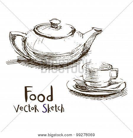 Food vector sketch