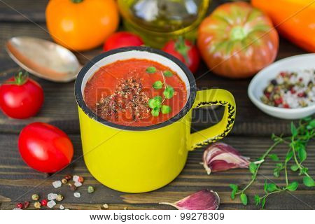 Homemade Thick Spicy Vegetable Soup