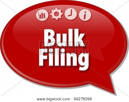 Blank business strategy concept infographic diagram illustration Bulk Filing