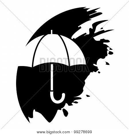 Umbrella - Vector Icon Isolated
