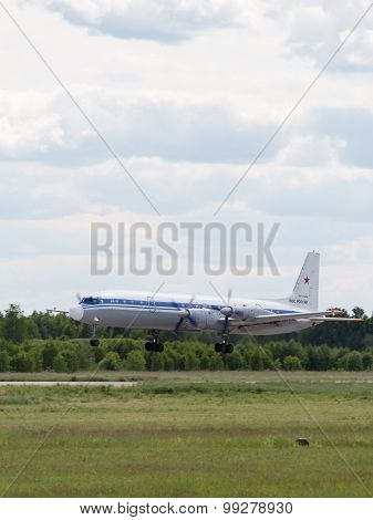 Landing Il-18 At The Airfield Kubinka