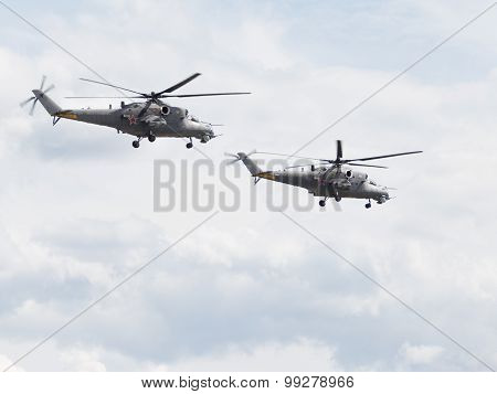 Two Mi-35 Helicopters