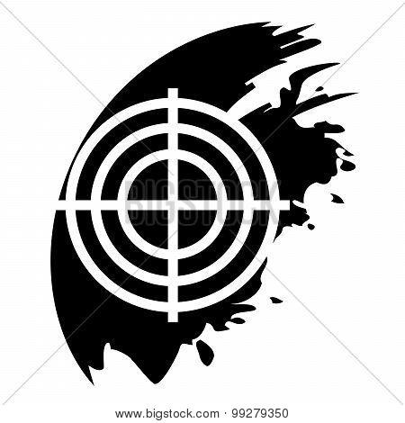 Target Black Icon