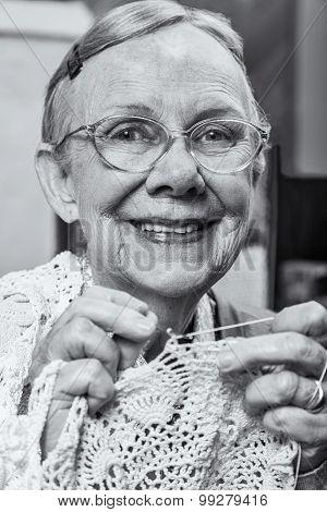 Nice Woman With Crochet