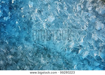 Blue Ice as background. Ice natural background
