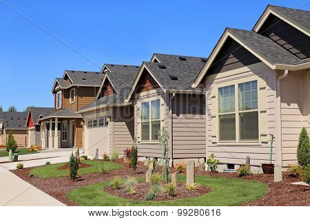 Beautiful Family Homes In Suburban Neighborhood