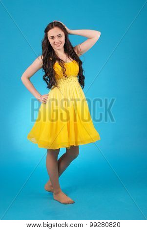Young Girl In Ballroom Dress