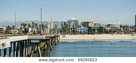 Venice Beach From The Fishing Pier