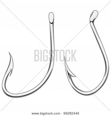 Two Fishing Hooks