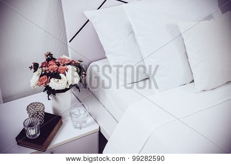 Bedside table decor