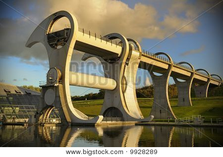 The Falkirk Wheel At Sunset