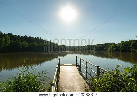 Fishing Pond With Jetty