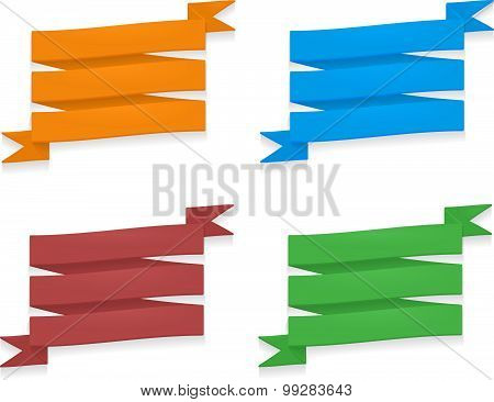 Detaield colorful ribbons
