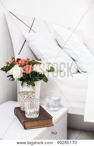 cozy home white bedroom