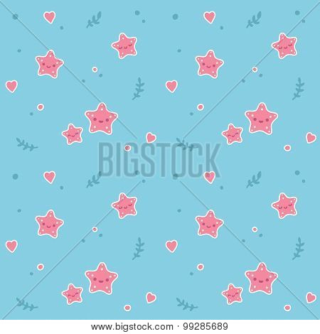 Starfish Seamless Pattern