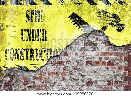 Site Under Construction Grungy Wall