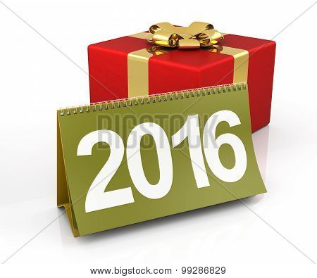 Gift Box With 2016 Calendar
