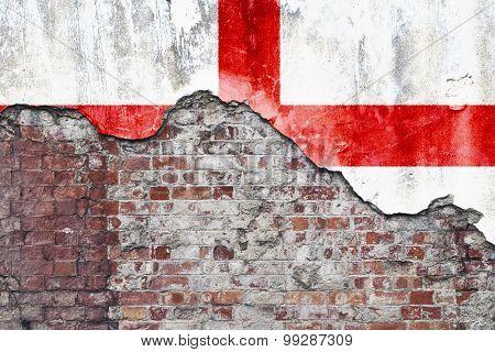 England Flag On Grungy Wall