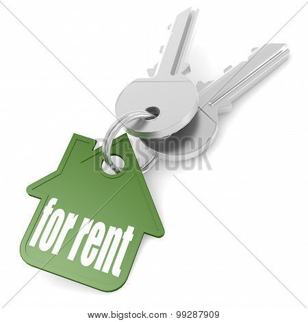 Keychain With For Rent Word
