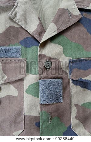 Close-up Of Camouflaged Military Jacket