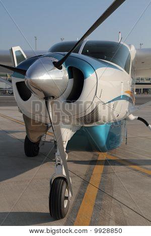 Front of caravan Airoplane