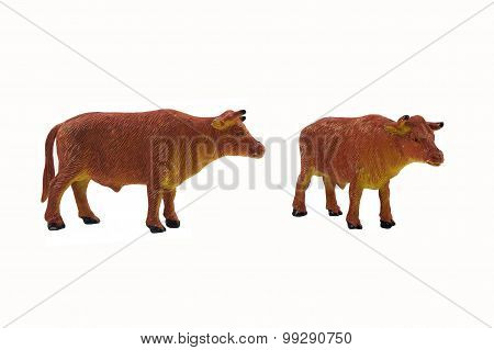 Isolated bull toy photo.