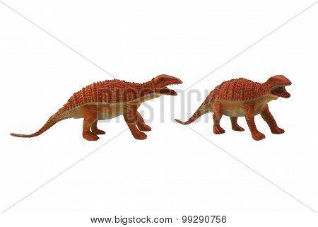 Isolated dinosaur toy photo.