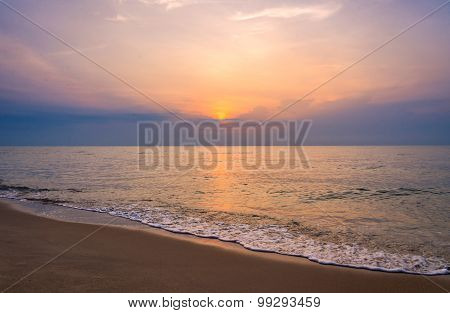 Sunrise On The Beach Of Andaman Sea