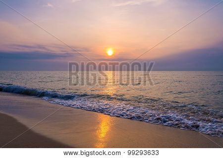 Sunrise On The Beach Of Andaman Sea