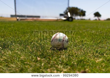 Baseball at a Baseball Field by the Pacific Ocean