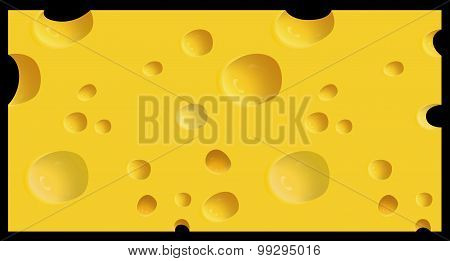 Vector illustrated piece of cheese