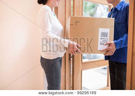 Receiving large parcel