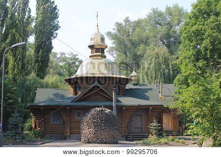 Wooden church in Kiev
