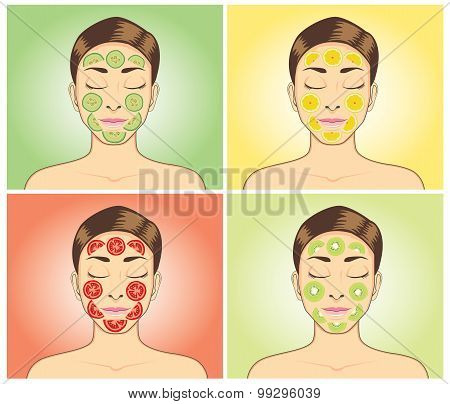 Facial treatment with fruit