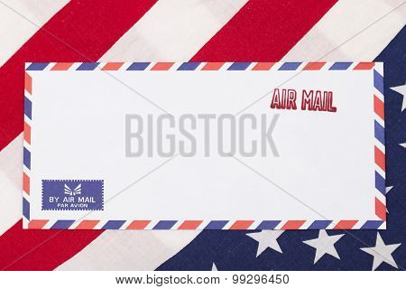 Air Mail Stamped On The Envelope, Usa