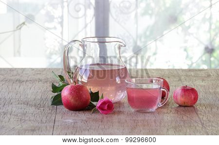 Compote From Fresh Apples In A Jug