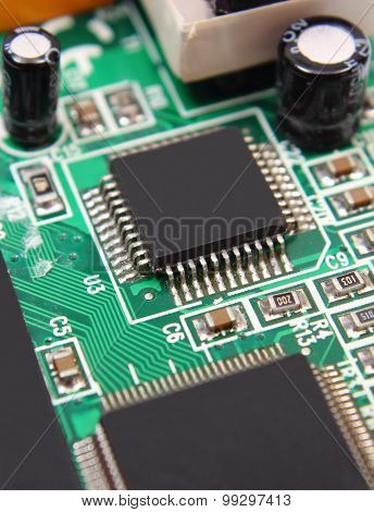 Printed Circuit Board With Electrical Components, Technology
